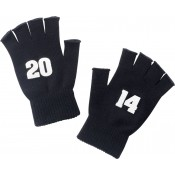 2014 Black Knit Fingerless Gloves