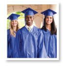 Cap and Gown with Tassel and Diploma Cover Set