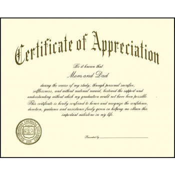 Appreciation certificate individual products personalized appreciation certificate yadclub Choice Image