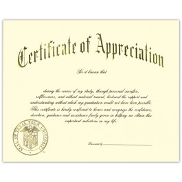 Appreciation certificate packages personalized announcements yelopaper Gallery