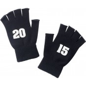 2015 Black Knit Fingerless Gloves