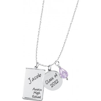 Tag Charm Necklace