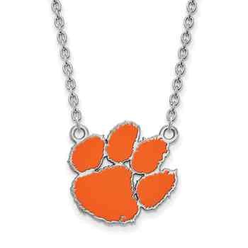 Clemson sterling silver pendant jewelry new products clemson sterling silver pendant mozeypictures Image collections